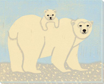 Polar Bear Wrapped Canvas Giclee Art Print Wall Art