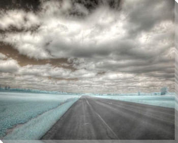 Open Road Wrapped Canvas Giclee Art Print Wall Art