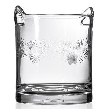 Icy Pine Glass Champagne Ice Bucket