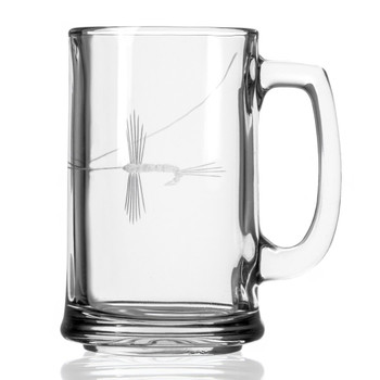 Fly Fishing Beer Mugs, Set of 4