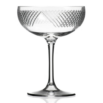Bourbon Street Coupe Champagne Saucer Glasses, Set of 4