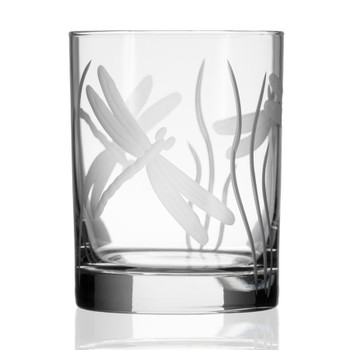Dragonfly Double Old Fashioned Glasses, Set of 4
