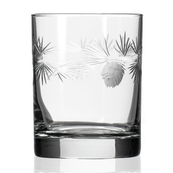 Icy Pine Double Old Fashioned Glasses, Set of 4