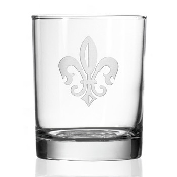 Grand Fleur De Lis Double Old Fashioned Glasses, Set of 4
