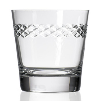 Diamond Double Old Fashioned Glasses, Set of 4