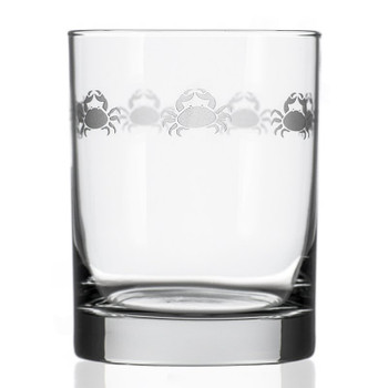 Cast of Crabs Double Old Fashioned Glasses, Set of 4