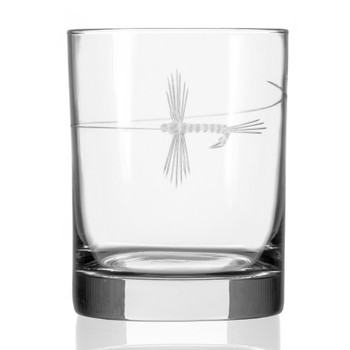 Fly Fishing Double Old Fashioned Glasses, Set of 4