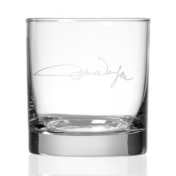"John Wayne ""Signature"" On the Rocks Glasses, Set of 4"
