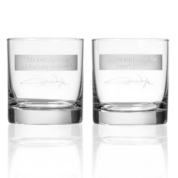 "John Wayne ""Quotes Series 1"" On the Rocks Glasses, Set of 2"