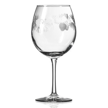 Icy Pine Balloon Red Wine Glasses, Set of 4