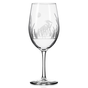 Heron Bird All Purpose Wine Glasses, Set of 4