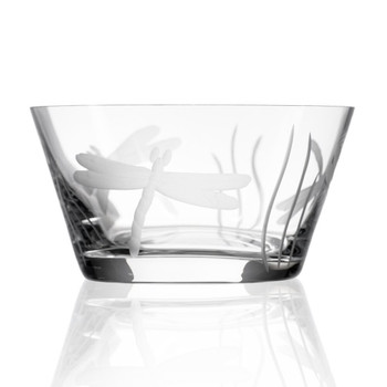 "6"" Dragonfly Glass Bowls, Set of 4"