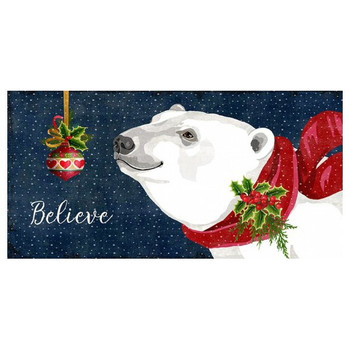 Custom Christmas Polar Bear Vintage Style Wooden Sign