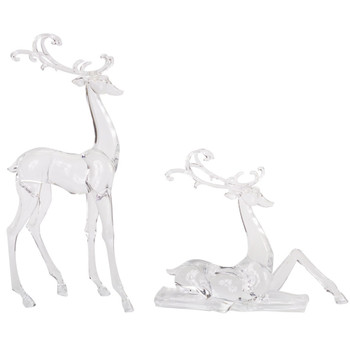 Fancy Reindeer Sculptures, Set of 2