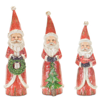 Santa Sculptures, Set of 3