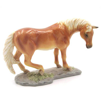 Standing Palomino Horse Figurine Sculpture