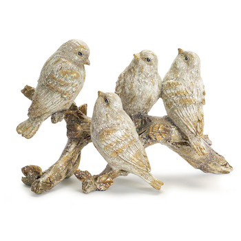 Holiday Birds on a Branch Sculptures, Set of 2
