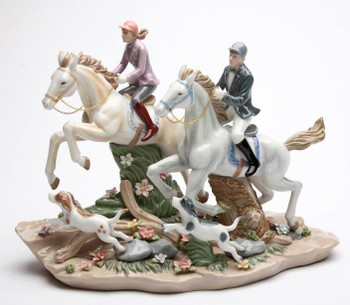 Call of the Hunt Porcelain Horse Sculpture