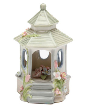 Chapel with Flowers Musical Music Box Sculpture