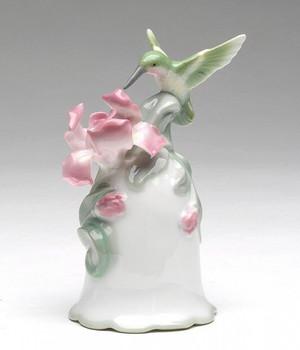 Hummingbird with Iris Flower Musical Music Box Sculpture