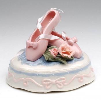 Ballet Slippers Musical Music Box Sculpture