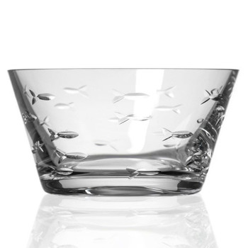 "6"" School of Fish Glass Bowls, Set of 4"