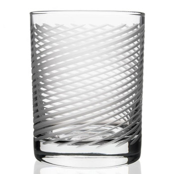 Cyclone Double Old Fashioned Glasses, Set of 4