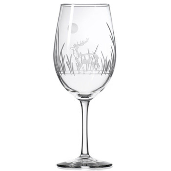 Deer with Full Moon All Purpose Wine Glasses, Set of 4