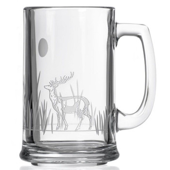Deer with Full Moon Beer Mugs, Set of 4