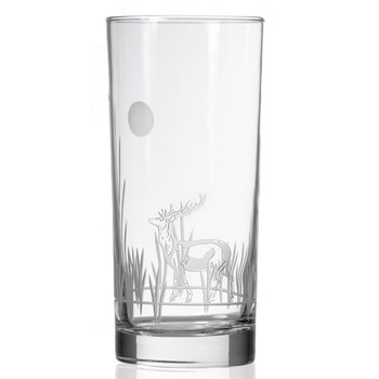 Deer with Full Moon High Ball Glasses, Set of 4