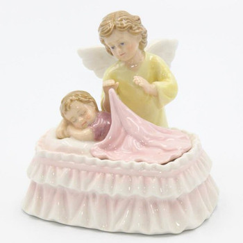 Guardian Angel with Baby Musical Music Box Sculpture