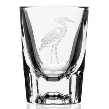 Heron Bird Shot Glasses, Set of 12
