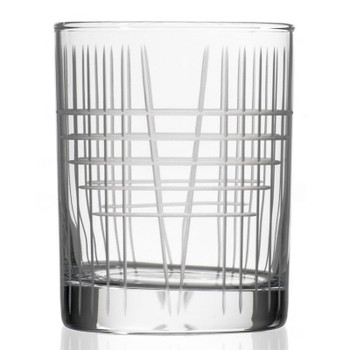 Matchstick Double Old Fashioned Glasses, Set of 4