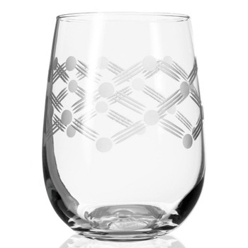 Maxwell Stemless Wine Glass Goblets, Set of 4