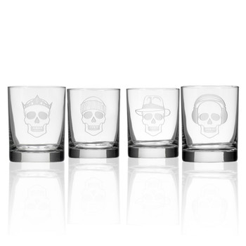 Numbskulls Double Old Fashioned Glasses, Set of 4