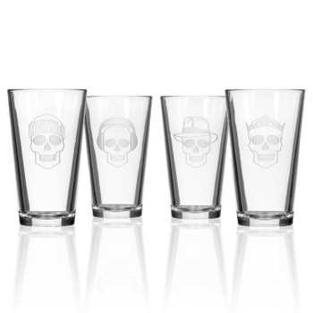 Numbskulls Pint Beer Glasses, Set of 4