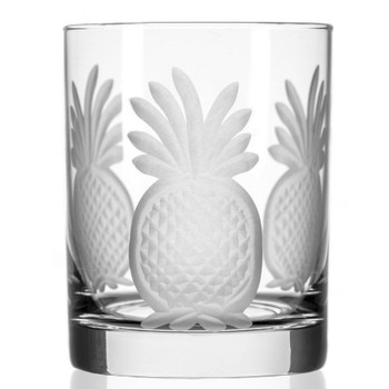 Pineapple Double Old Fashioned Glasses, Set of 4