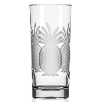 Pineapple High Ball Glasses, Set of 4