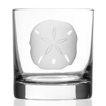 Sand Dollar Double Old Fashioned Glasses, Set of 4