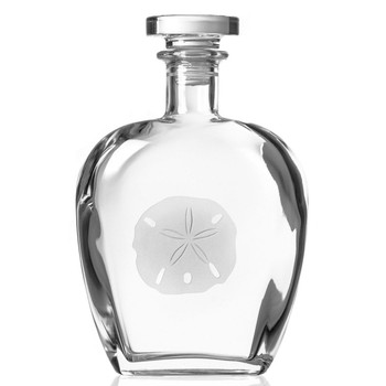 Sand Dollar Glass Whiskey Decanter