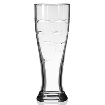 School of Fish Beer Pilsner Glasses, Set of 4