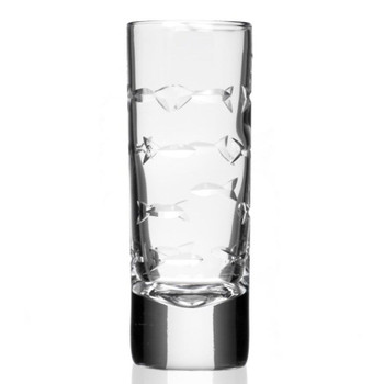 School of Fish Tall Shot Glasses, Set of 12