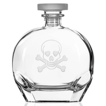Skull and Bones Glass Whiskey Decanter