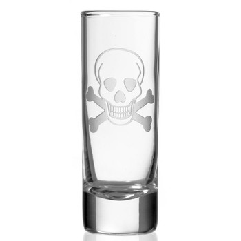 Skull and Bones Tall Shot Glasses, Set of 12