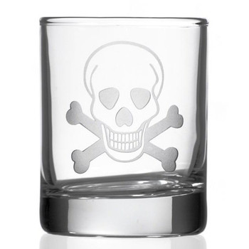 Skull and Bones Votive Candle Holders, Set of 12