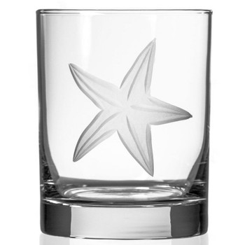 Starfish Double Old Fashioned Glasses, Set of 4