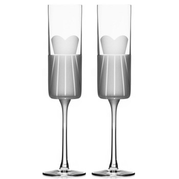 Wedding Cheers Formal Dress Champagne Flute Glasses, Set of 2
