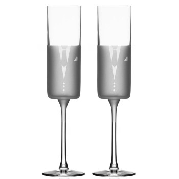 Wedding Cheers Romance Tuxedo Champagne Flute Glasses, Set of 2