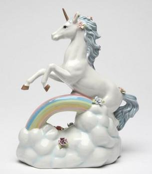 Unicorn Over the Rainbow Musical Music Box Sculpture