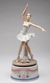 Ballerina in a White Dress Musical Music Box Sculpture